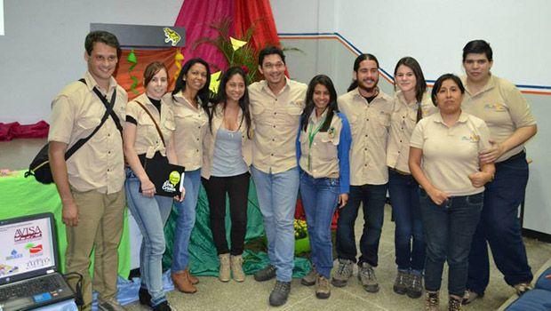Con todos los integrantes de Ecodiversa